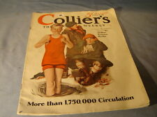 Vintage 1928 Collier's Magazine Children On Cover By Townz
