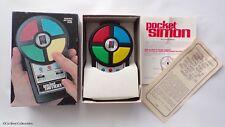 MB Games - Pocket Simon - Computer Memory Game - Boxed / Working! Retro 1980's