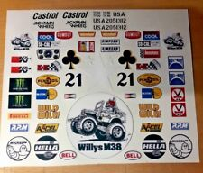 WILD WILLY CUSTOM VINTAGE  TAMIYA HPI LOSI PRECUT DECALS STICKERS 1/10th RC