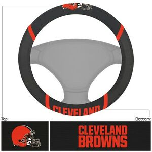 Fanmats NFL Cleveland Browns Embroidered Steering Wheel Cover Delivery 2-4 Days