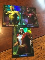Injustice Cards, Series 2 Arcade 3-Foil Game Mystery Characters Mint Shazam 3-pk