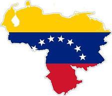 Sticker car moto map flag vinyl outside wall decal macbbook venezuela