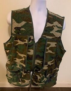 Vintage Game Winner Camoflauge Small Game Pouch Hunting Vest Men Size Medium