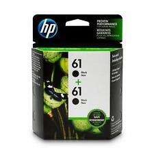 HP 61 Lot de 2 cartouches d'encre d'origine noir (CZ073FN)