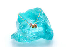 0.50 tcw Heart Flower Ring Created Diamond Sliding Charm Necklace Chain 14K Gold