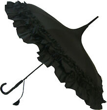 Blooming brollies BOUTIQUE classico a balze PAGODA STICK OMBRELLO-Nero