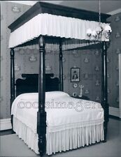 1959 Antique 4 Poster Bed With Canopy Press Photo