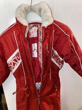 SPYDER Girls Snow Suit Ski Set Jacket Bibs Pants Size 4 Red