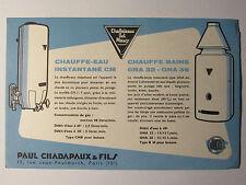 10C19 ANCIEN BUVARD PUBLICITAIRE PUB CHAUFFE EAU BAIN CHAFFOTEAUX ET MAURY