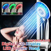 3 Color LED Shower Head Digital LCD Display Temperature Control Shower Hea