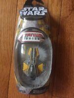 STAR WARS MicroMachines Titanium Series GOLD JEDI STARFIGHTER '05 GALOOB NIP