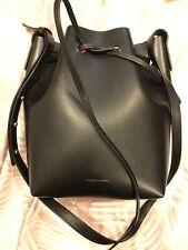 MANSUR GAVRIEL Bucket Bag - Vegetable Tanned Leather - Black / Flamma