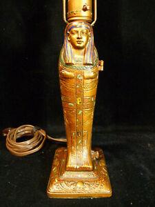 RARE SIGNED LOUIS V. ARONSON EGYPTIAN REVIVAL EROTIC MUMMY LAMP - CIRCA 1923