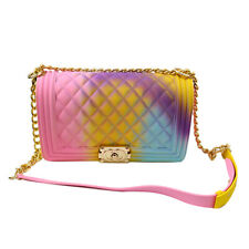 New hand Bag Mini Ladies Shoulder Jelly Bag Fashion Handbags Color Matte Rhombic