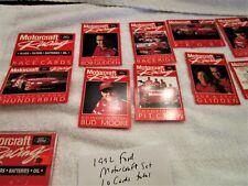 1992 Ford Motorcraft Racing Collector Sets (2) 10 Race Cards Set NASCAR