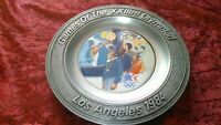 VINTAGE OLYMPIC DECORATIVE PLATE GAMES OF THE 23rd OLYMPIAD LOS ANGELES 1984