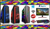 CHEAP FAST GAMING PC Intel Core i7 8GB RAM 1TB HDD Windows 10 2GB GT710 WiFi