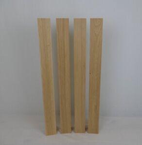 4 massive Tischbeine Holz Eiche 80x80x750 mm Tischbein, Kantholz