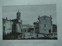 1845 Zuccagni-Orlandini Veduta del Castello di Bagnara nella Legazione Ravenna