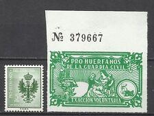 2395-SELLO FISCAL HUERFANOS GUARDIA CIVIL 5 PESETAS+ EJERCITO 5 PESETAS