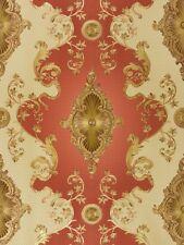 Tapete Satin Barock Ornament Tapete Hermitage Glanz Metallic rot 6829-18 (3,74€/
