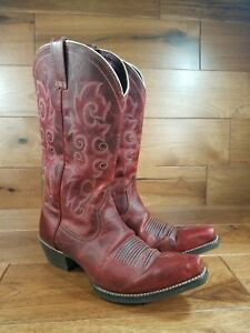 Ariat ALABAMA Women's Red Leather Snip Toe Cowboy Boots Style 10010978 Size 7.5