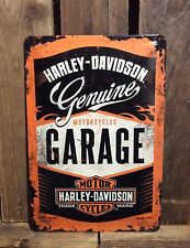 HARLEY DAVIDSON GENUINE GARAGE VINTAGE LOOK METAL SIGN OFFICIAL MERCHANDISE