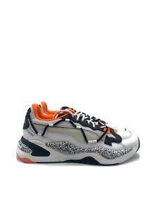 Puma RS-2K Mr Doodle (Men's Size 8.5) Running Shoe White Black Orange Sneaker