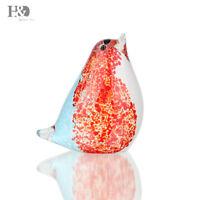 Handmade Glass Bird Paperweight Art Glass Blown Bird Animal Figurine Decor Gift