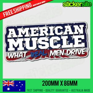 AMERICAN MUSCLE Sticker Decal - FUNNY GARAGE STICKER FORD MUSTANG COMARO DODGE