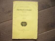 SOCIETE DE L'HISTOIRE DU PROTESTANTISME FRANCAIS 1876