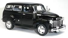 1950 Chevrolet Suburban Carryall Sammlermodell 12,2 cm schwarz KINSMART