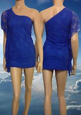 Barbie Girl Deluxe Lace 007 Bond Girl Fantasy Royal Blue Cocktail Dress - New