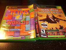 STAR WARS CLONE TETRIS WORLDS MICROSOFT XBOX VIDEO GAME COMPLETE