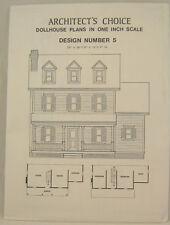 DOLLHOUSE PLANS Design #5 Architect's Choice 1:12 Scale Cape Cod Farm House