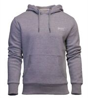 Superdry Mens New Orange Label Overhead Long Sleeve Pullover Hoodie Grey Marl