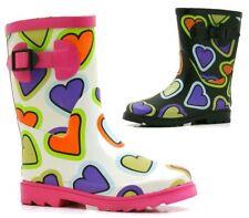 Scarpe stivali da pioggia in gomma per bambine dai 2 ai 16 anni
