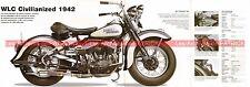 HARLEY DAVIDSON WLC 750 Civilianized 1942 Fiche Moto 000490