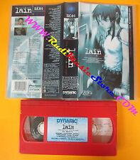 VHS film SERIAL EXPERIMENTS LAIN Close world animazione 1999 DYNAMIC(F153)no dvd