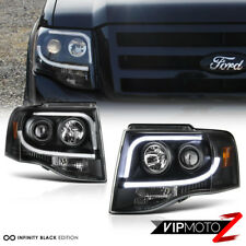2007 2017 Ford Expedition Suv Arctic Optic Black Projector Led Neon Headlights Fits 2008