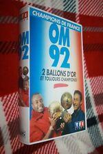 rare K7 VHS )) Olympique Marseille * OM 92 / 2 BALLONS D'OR Papin & Pelé
