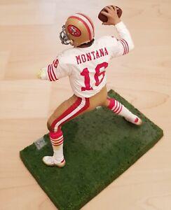 NFL Figur Serie 2 McFarlane #16 Joe Montana 49ers Legends Rarität Variant weiß