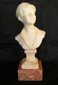 Ancienne statette en marbre école française fin 19ème début 20ème buste