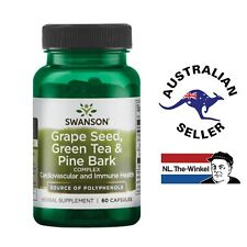 SWANSON Grape Seed, Green Tea & Pine Bark Complex Herbal Supplement 60 Capsules