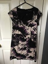 Black And Purple Women's Size 12 Dress