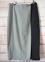 Zara Woman Pencil Skirt Size Medium Black White Houndstooth