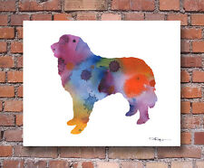 Great Pyrenees Contemporary Watercolor Art Print by Artist Djr