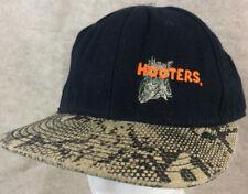 Hooters Hat Miami Bayside Snapback Otto Cap Black Imitation Snakeskin Bill
