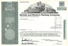Norfolk and Western Railway Compagny Certificate 1978 (410114)