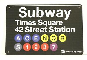 New York City Times Square Subway Tin Poster Metal Sign Broadway Travel